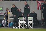 18.01.2020, Merkur Spielarena, Duesseldorf , GER, 1. FBL,  Fortuna Duesseldorf vs. SV Werder Bremen,<br />  <br /> DFL regulations prohibit any use of photographs as image sequences and/or quasi-video<br /> <br /> im Bild / picture shows: <br /> Florian Kohfeldt Trainer / Headcoach (Werder Bremen) er kann doch stehen.. vernebelt wegen Pyro <br /> <br /> Foto © nordphoto / Meuter
