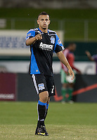 Jason Hernandez prepares to take the final shot. The San Jose Earthquakes defeated Chivas USA 6-5 in shootout after drawing 0-0 in regulation time to win the inagural Sacramento Cup at Raley Field in Sacramento, California on June 12, 2010.