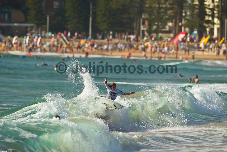 MANLY, NSW/Australia (Sunday, 19 February, 2012) Billy Stairmand (NZL)– The Australian Open of Surfing at Manly Beach presented by Hurley and Billabong was completed continued  with the Men's ASP 6-Star division, and the Women's ASP 6-Star division decided.  Matt Banting (AUS) defeated Evan Geiselman  (USA)in a tightly fought out the men's final while Sally Fitzgibbons (AUS) defeated Sofia Mulanovich (PRU) in the final women's. Massive crowds packed the beach at Manly today.  Photo: joliphotos.com