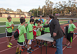Flag Football Tournament, Almond vs Santa Rita for the Championship at Foothill College, Nov 2, 2013. Almond wins.