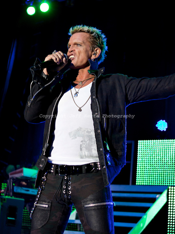 Billy Idol live in concert at the Palladium Ballroom on August 24, 2010 in Dallas, TX.