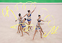Italy team group (ITA),<br /> AUGUST 20, 2016 - Rhythmic Gymnastics :<br /> Group All-Around Qualification, Rotation 1 Ribon at Rio Olympic Arena during the Rio 2016 Olympic Games in Rio de Janeiro, Brazil. (Photo by Enrico Calderoni/AFLO SPORT)