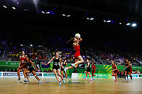 Helen Housby of England in action. Gold Coast 2018 Commonwealth Games, Netball, New Zealand Silver Ferns v England, Gold Coast Convention and Exhibition Centre, Gold Coast, Australia. 11 April 2018 © Copyright Photo: Anthony Au-Yeung / www.photosport.nz /SWpix.com