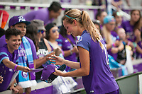 Orlando, FL - Saturday April 22, 2017: Dani Weatherholt, fans during a regular season National Women's Soccer League (NWSL) match between the Orlando Pride and the Washington Spirit at Orlando City Stadium.