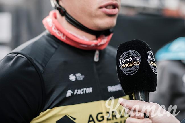 belgian champion Oliver Naesen (BEL/AG2R mondiale), flanders classics pre race interview <br /> <br /> 81st Gent-Wevelgem in Flanders Fields (1.UWT)<br /> Deinze > Wevelgem (251km)