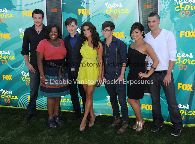 The cast of Glee at The Fox 2009 Teen Choice Awards held at Universal Ampitheatre  in Universal City, California on August 09,2009                                                                                      Copyright 2009 Debbie VanStory / RockinExposures