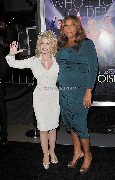 Dolly Parton and Queen Latifah at the premiere of Joyful Noise held at Grauman's  Chinese Theatre in Hollywood, CA. January 9, 2012
