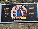 Billboard advertising poster for Free Fire film,  Ireland,  Irish Republic