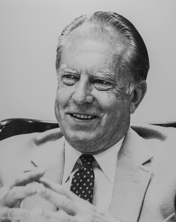 Sen. Robert Stafford, R-Vt., in 1987. (Photo by CQ Roll Call)