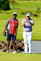 Casey O'Toole (USA) in action during the first round of the Afrasia Bank Mauritius Open played at Heritage Golf Club, Domaine Bel Ombre, Mauritius. 30/11/2017.<br /> Picture: Golffile | Phil Inglis<br /> <br /> <br /> All photo usage must carry mandatory copyright credit (&copy; Golffile | Phil Inglis)
