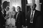 Byker, Newcastle upon Tyne. 1973<br /> Club members and their wives stand to attention at the end of the evening, while the National Anthem, God Save the Queen is played.<br /> <br /> Chairman George Bulmen.