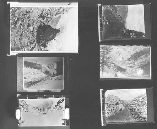Sheet of six small images of Colorado Midland scenes<br /> Colorado Midland