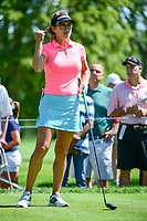 Belen Mozo (ESP) prepares to tee off on 18 during Saturday's round 3 of the 2017 KPMG Women's PGA Championship, at Olympia Fields Country Club, Olympia Fields, Illinois. 7/1/2017.<br /> Picture: Golffile | Ken Murray<br /> <br /> <br /> All photo usage must carry mandatory copyright credit (&copy; Golffile | Ken Murray)