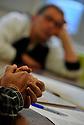 11/10/12 - THIERS - PUY DE DOME - FRANCE - Dans les locaux de l association de reinsertion professionnelle PASSERELLE - Photo Jerome CHABANNE pour Le Monde