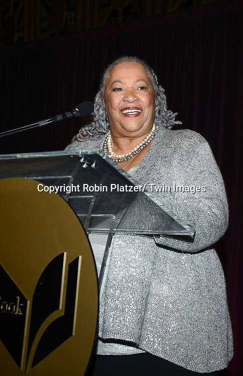 Toni Morrison  attends the 2013 National Book Awards Dinner and Ceremony on November 20, 2013 at Cipriani Wall Street in New York City.