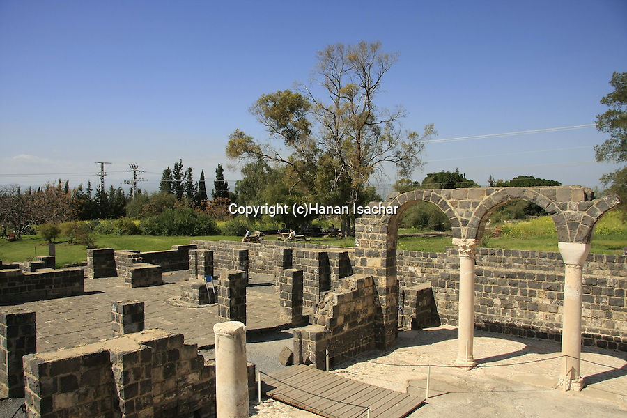 Kursi, remnants of the largest Byzantine-period monastery in Israel.The monastery and the church inside it were built in the middle of the fifth century. According to the New Testament, Jesus healed a man possessed by demons in Kursi