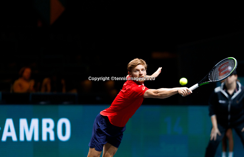 Rotterdam, The Netherlands, 12 Februari 2020, ABNAMRO World Tennis Tournament, Ahoy, David Goffin (BEL).<br /> Photo: www.tennisimages.com
