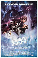 BNPS.co.uk (01202 558833)<br /> Pic: LucasFilms/20thCenturyFox<br /> <br /> Movie poster for The Empire Strikes Back<br />  <br /> From an auction house not very far away - The black mask and helmet worn by Darth Vader in The Empire Strikes Back is tipped to sell for a whopping £350,000.<br /> <br /> The distinctive screen-used headpiece was worn by British actor David Prowse in the 1980 Star Wars movie.<br /> <br /> The prop will go under the hammer with US auction house Profiles in History who have described it as the 'Holy Grail' of science fiction artefacts.