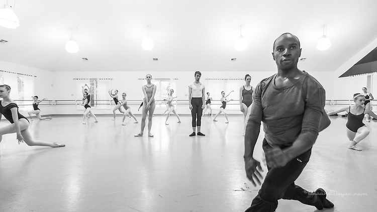 Class & Rehearsal with Visiting Choreographer Justin Allen. Cary Ballet Conservatory, 27 Sept. 2015.