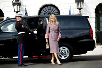 Mrs. Monika Babi&scaron;ov&aacute; arrives with Czech Republic Prime Minister Andrej Babi&scaron; on the South Portico at White House in Washington, District of Columbia on Thursday, March 7, 2019. <br /> CAP/MPI/RS<br /> &copy;RS/MPI/Capital Pictures