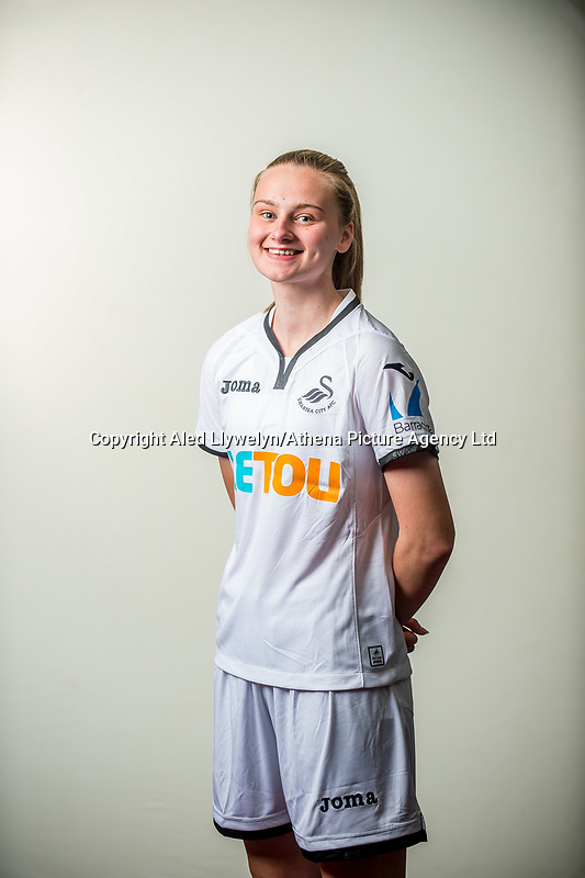 Wedensday 26 July 2017<br />Pictured: Hannah Thomas<br />Re: Swansea City Ladies Squad 2017- 2018 at the Liberty Stadium, Wales, UK