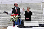 "1/22/13/  Jackson MS -Flip Benham, leader of Operation Save America (OSA) speaks on the steps of the Mississippi State capital on the 40th Anniversary of Roe-v-Wade.  Governor Bryant is attempting to close the clinic by making strict laws for the clinic and having the doctors have admitting privileges at local hospitals. The clinic is unable to comply with State law and is fighting to stay open. Governor Phil Bryant joins the PLAN (Pro Life America Network) and speaks at the Mississippi State capital in support of his Pro Life agenda on the 40th Anniversary of Roe-v-Wade. Governor Bryant asked  for people to ""pray for the unborn babies"" and Bryant is pushing hard to close the States only operating Abortion Clinic. Photo© Suzi Altman"