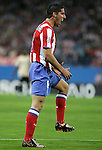 Atletico de Madrid's Raul Garcia reacts during UEFA Champions League match, October 01, 2008. (ALTERPHOTOS/Alvaro Hernandez)