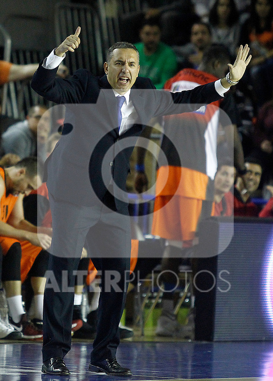Montakit Fuenlabrada's coach Jota Cuspinera during Eurocup, Regular Season, Round 6 match. November 16, 2016. (ALTERPHOTOS/Acero)