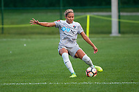 Kansas City, MO - Thursday August 10, 2017: Jaelene Hinkle during a regular season National Women's Soccer League (NWSL) match between FC Kansas City and the North Carolina Courage at Children's Mercy Victory Field.