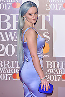 Clean Bandit's Grace Chatto<br /> The Brit Awards at the o2 Arena, Greenwich, London, England on February 22, 2017.<br /> CAP/PL<br /> &copy;Phil Loftus/Capital Pictures /MediaPunch ***NORTH AND SOUTH AMERICAS ONLY***