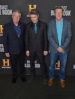 "03 January 2019 - Los Angeles, California - Joel Hynek, Aidan Gillen, Paul Hynek. ""Project Blue Book"" History Scripted Series Los Angeles Premiere held at Simon House. Photo Credit: AdMedia"