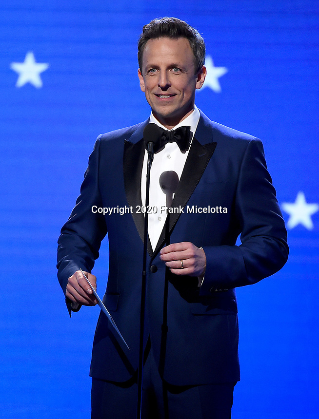 SANTA MONICA, CA - JANUARY 12: Seth Meyers onstage at the 25th Annual Critics' Choice Awards at the Barker Hangar on January 12, 2020 in Santa Monica, California. (Photo by Frank Micelotta/PictureGroup)