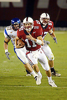 Kyle Matter scrambles for a touchdown during Stanford's 63-26 win over San Jose State on September 14, 2002 at Stanford Stadium.<br />Photo credit mandatory: Gonzalesphoto.com