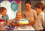 laughing children at birthday party
