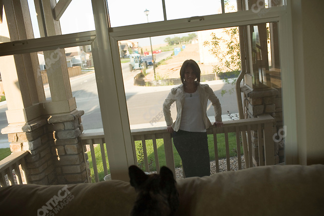 Stephanie Brown at her home that she is trying to sell. Thornton, Colorado, July 29, 2007.