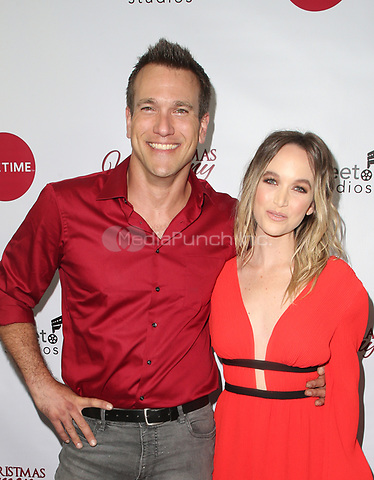 "LOS ANGELES, CA - NOVEMBER 7: Mark Hapka, Kelley Jakle, at Premiere of Lifetime's ""Christmas Harmony"" at Harmony Gold Theatre in Los Angeles, California on November 7, 2018. Credit: Faye Sadou/MediaPunch"