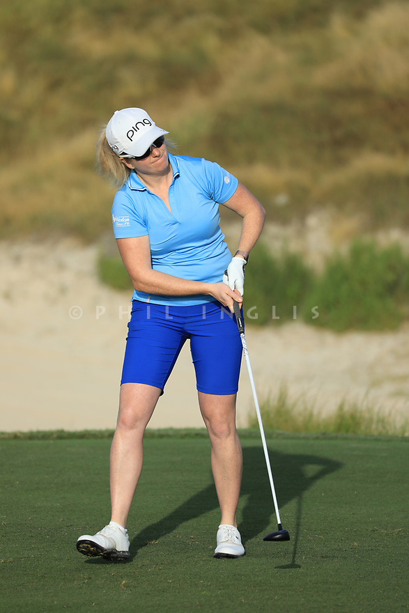 during the first round of the Fatima Bint Mubarak Ladies Open played at Saadiyat Beach Golf Club, Abu Dhabi, UAE. 10/01/2019<br /> Picture: Golffile   Phil Inglis<br /> <br /> All photo usage must carry mandatory copyright credit (© Golffile   Phil Inglis)