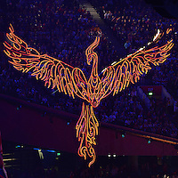 August 12, 2012..Bird of Fire during closing ceremony at the Olympic Stadium on the last day of 2012 Olympic Games in London, United Kingdom.