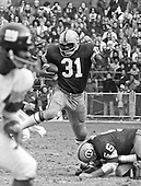 Washington Redskins fullback Charley Harraway (43) carries the ball against the New York Giants at RFK Stadium in Washington, DC on December 5, 1971. The Redskins won the game 23 - 7.<br /> Credit: Arnie Sachs / CNP