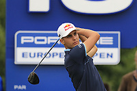 Mathias Schwab (AUT) tees off the 12th tee during Saturday's Round 3 of the Porsche European Open 2018 held at Green Eagle Golf Courses, Hamburg Germany. 28th July 2018.<br /> Picture: Eoin Clarke | Golffile<br /> <br /> <br /> All photos usage must carry mandatory copyright credit (&copy; Golffile | Eoin Clarke)