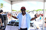 MIAMI BEACH, FL - FEBRUARY 20: Dj Irie participates in Sports Illustrated Swimsuit 2014 Beach Volleyball:Models & Celebrity Chefs on February 20, 2014 in Miami Beach, Florida. (Photo by Johnny Louis/jlnphotography.com)