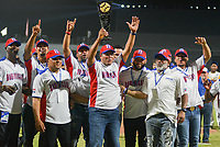 BARRANQUILLA - COLOMBIA, 3-06-2018 .República Dominicana se coronó campeona del cuadrangular del Torneo Copa Barranquilla Capital de Vida durante la  apertura del  estadio de Béisbol Edgar Rentería  / Dominican Republic champion of the tournament Copa Barranquilla Capital of Life during the opening of the Baseball stadium Edgar Rentería during the Copa Barranquilla Capital of Life tournament during the opening of the Edgar Rentería Baseball stadium. Photo: VizzorImage / Alfonso Cervantes / Contribuidor