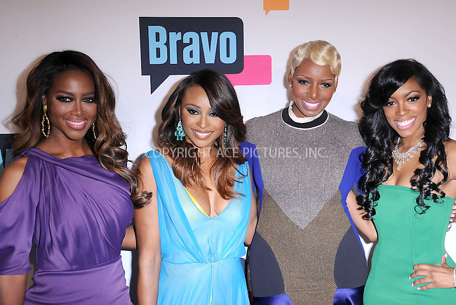 WWW.ACEPIXS.COM . . . . . .April 3, 2013...New York City...Kenya Moore, Cynthia Bailey, NeNe Leakes, and Porsha Stewart of 'The Real Housewives of Atlanta' attend the 2013 Bravo New York Upfront at Pillars 37 Studios on April 3, 2013 in New York City ....Please byline: KRISTIN CALLAHAN - ACEPIXS.COM.. . . . . . ..Ace Pictures, Inc: ..tel: (212) 243 8787 or (646) 769 0430..e-mail: info@acepixs.com..web: http://www.acepixs.com .