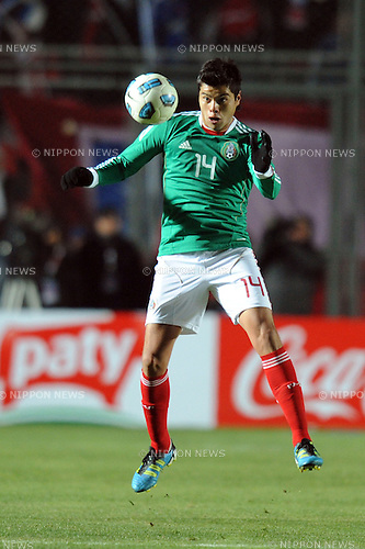 Nestor Araujo (MEX),JULY 4, 2011 - Football :Copa America Argentina 2011 Group C match between Chile 2-1 Mexico at Bicentenarium Stadium in San Juan, Argentina. (Photo by aicfoto/AFLO)
