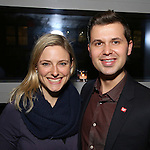 Laura Heywood and Seth Citterman attend the DGF Reception for Andrew Lippa & Friends at Landmarc on February 1, 2017 in New York City.