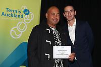 Auckland Tennis Awards Evening 2019  30/05/2019. Mandatory Photo Credit ©Michael Bradley.