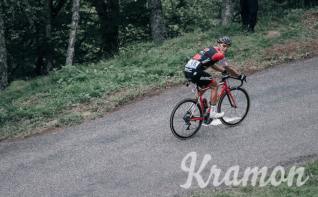 Greg Van Avermaet (BEL/BMC) up the Mur de P&eacute;gu&egrave;re (Cat1/1375m/9.3km/7.9%)<br /> <br /> 104th Tour de France 2017<br /> Stage 13 - Saint-Girons &rsaquo; Foix (100km)