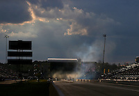 Mar 19, 2016; Gainesville, FL, USA; Overall view of Auto Plus Raceway at Gainesville as NHRA top fuel dragster drivers stage during qualifying for the Gatornationals. Mandatory Credit: Mark J. Rebilas-USA TODAY Sports