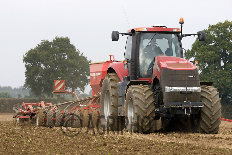Case Magnum 260 and a Horsch Drill drilling Winter Wheat in Suffolk.Picture by Tim Scrivener date taken 11th October 2012.mobile 07850 303986 e-mail tim@agriphoto.com.....covering agriculture in The United Kingdom....