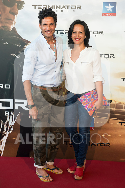 Matador Oscar Higares and his wife Sandra Alvarez attends to the premiere of Terminator Genesis at Kinepolis Cinema in Madrid, Spain. July 08, 2015.<br />  (ALTERPHOTOS/BorjaB.Hojas)